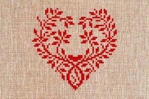 Сердце на вышиванке