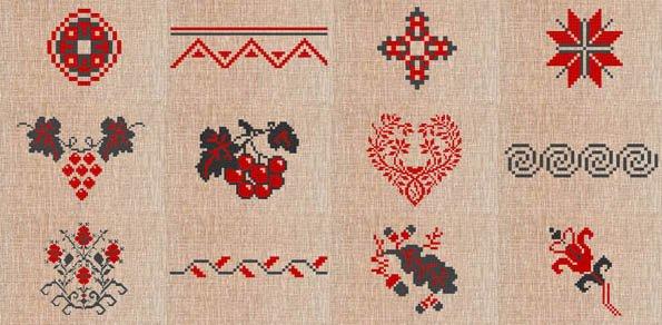 Орнаменты на украинской вышиванке и что они означают, инфографика