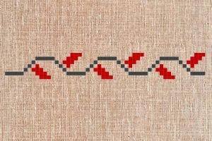 Волнистые линии на вышиванке