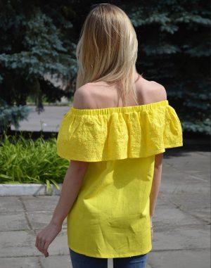 Блуза ВП-94 Лен 163 желтый