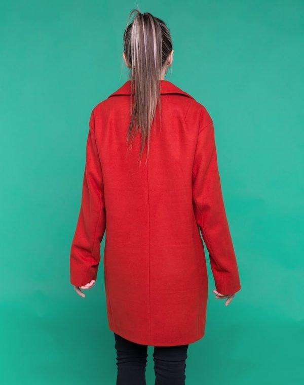 В-74 Пальто женское кашемир терракот