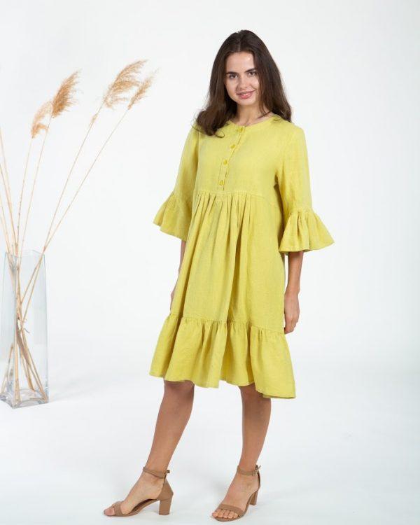 """Платье модель """"ВП-149"""", лен горох"""