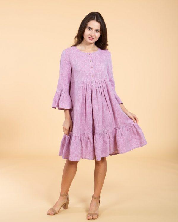"""Платье модель """"ВП-149"""", лен бузок"""