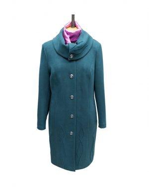 К-77 Пальто женское кашемир утепленное зеленый