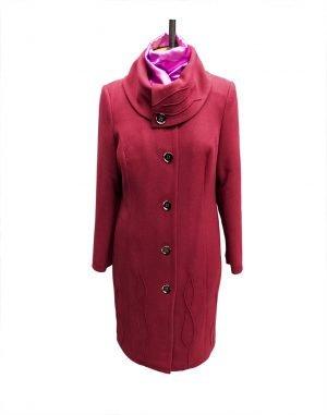 К-77 Пальто женское кашемир утепленное бордо