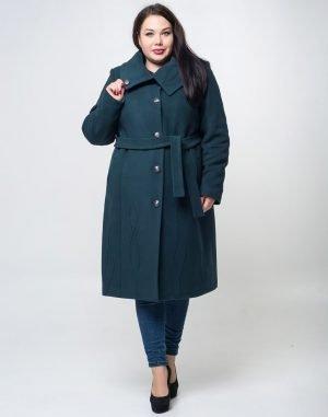 К-77 Пальто женское кашемир утепленное бутылка