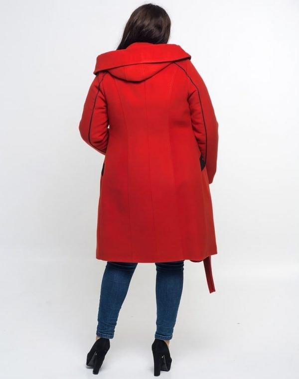 Женское пальто К-105 Кашемир терракот