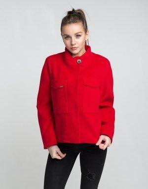 К-104 Пальто Кашемир красный