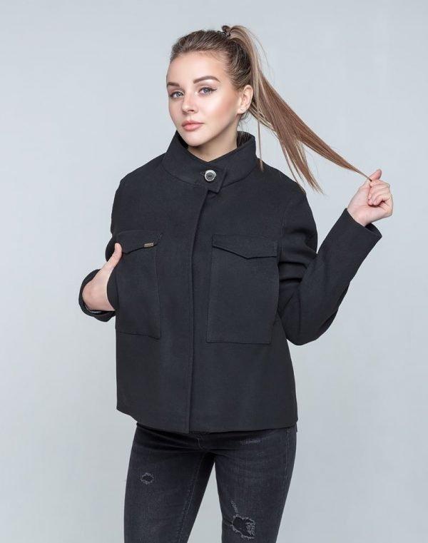 К-104 Пальто Кашемир черный