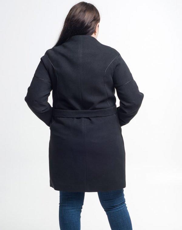 Женское пальто К-177 Кашемир черный