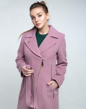 В-28 Пальто женское кашемир сиреневый