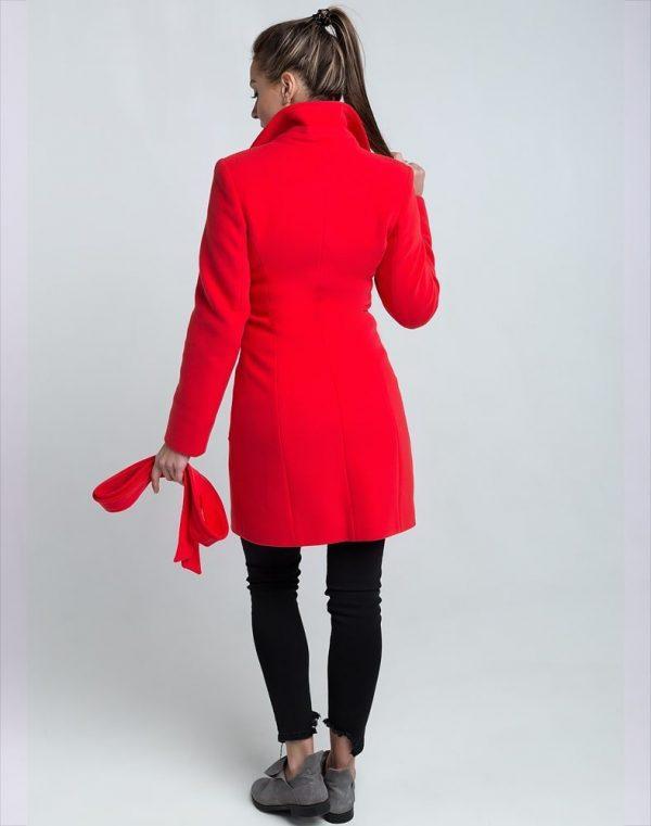 В-28 Пальто женское кашемир коралл