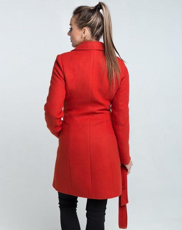 В-28 Пальто женское кашемир терракот