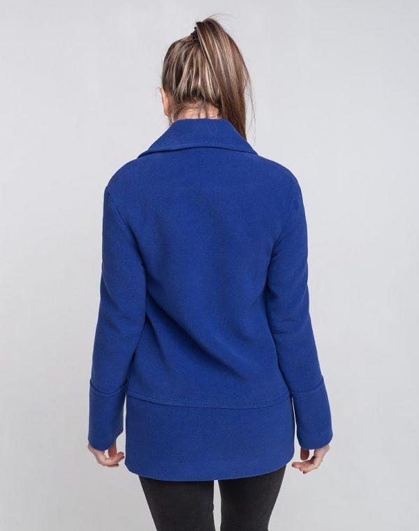 Пальто женское Кашемир-166 синий