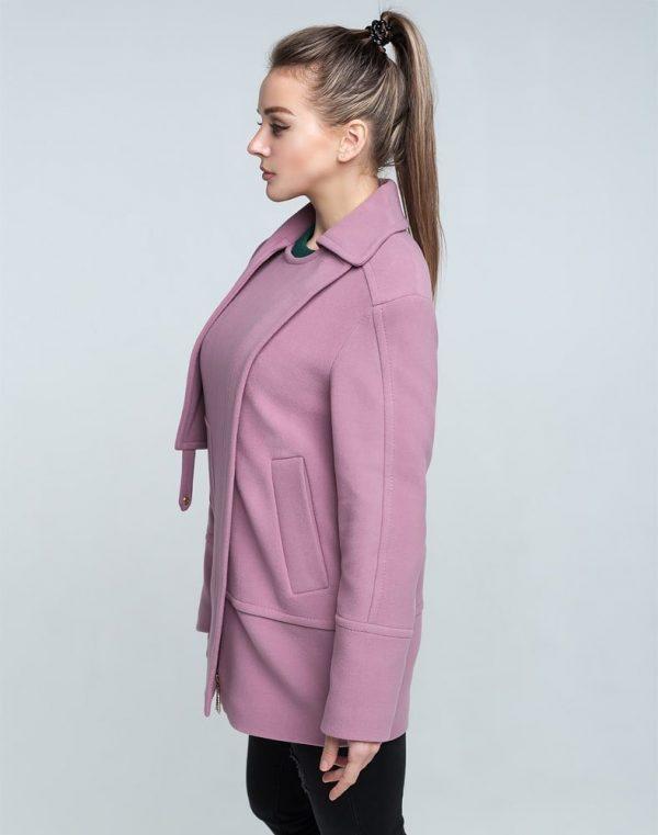 Пальто женское Кашемир-166 сиреневый