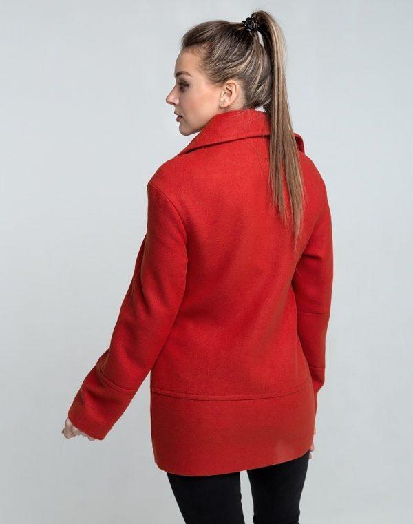 Пальто женское Кашемир-166 терракот