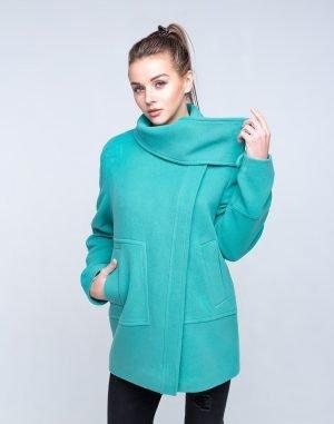Пальто женское Кашемир-166 мята