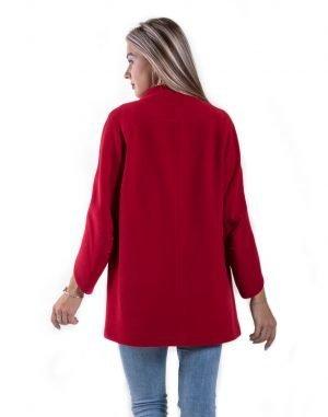 Пальто женское К-154 кашемир красный