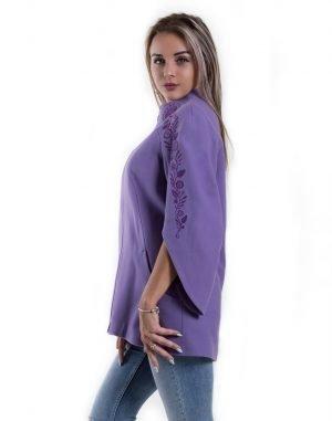 Пальто женское К-154 кашемир сиреневый