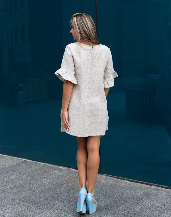 Платье ВП-67-К лен бежевый