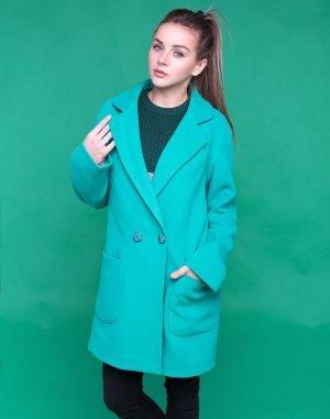 В-74 Пальто женское кашемир мята