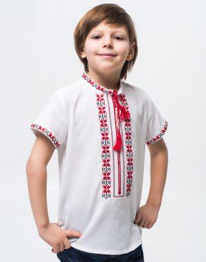 """Вышиванка для мальчиков """"Алатир"""" КР хлопок 146-164 белый"""