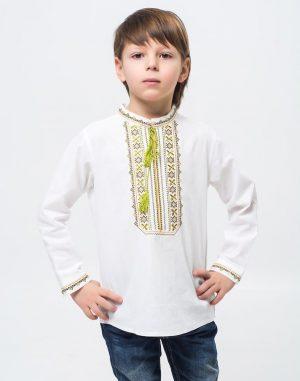 """Вышиванка для мальчиков """"Дубочок"""" ДР хлопок 098-116 белый"""