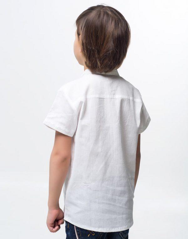 Вышиванка для мальчика Дубочок КР бавовна 122-140 белый
