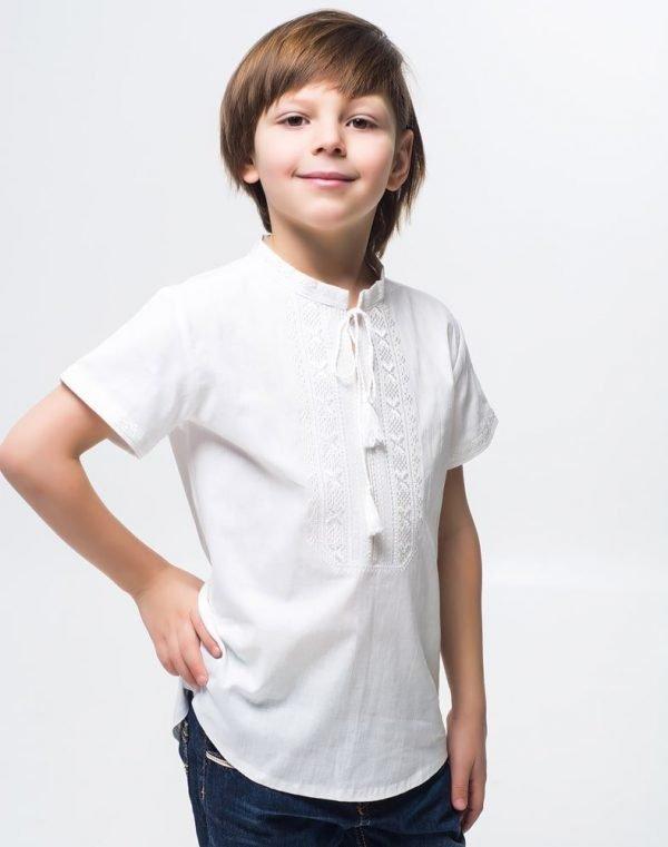 Вышиванка для мальчика Дубочок КР бавовна 146-164 белый