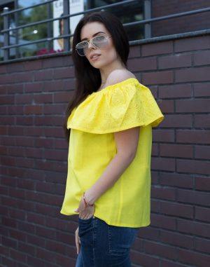Блуза ВП-94 Лен желтый