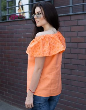 Блуза ВП-94 Лен оранжевый