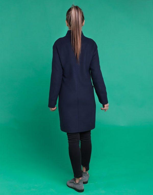 Пальто женское В-116 кашемир синий темный