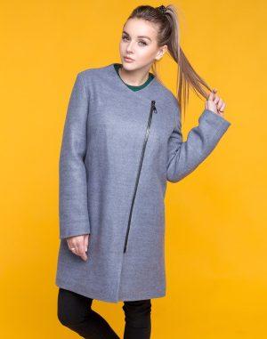 В-120 Пальто Феникс утепленное серый