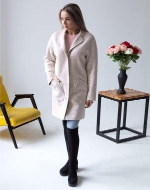 Женское пальто В-114 Кашемир Феникс бежевый
