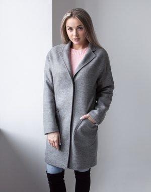 Женское пальто В-114 Кашемир Феникс серый