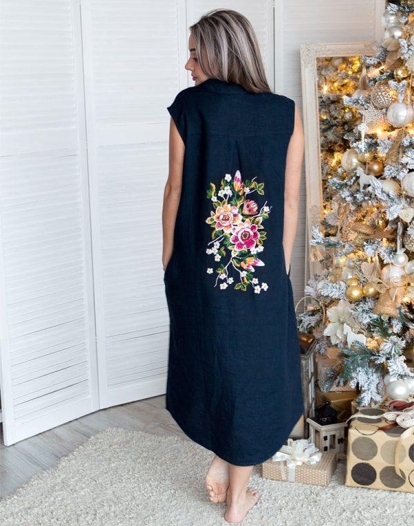 Платье ВП-64 ЗАРА темно-синий