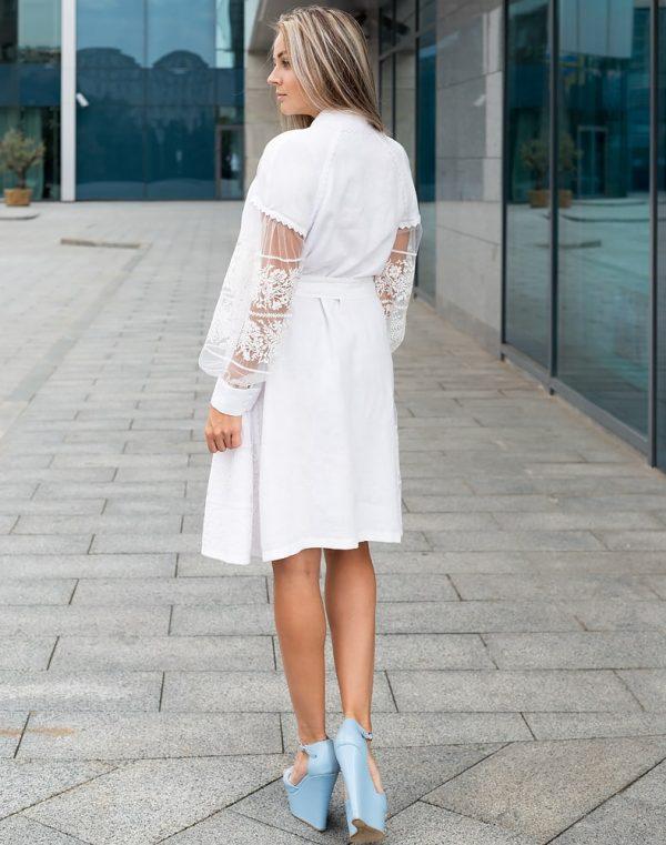 """Платье """"Дівчина Хлібороба"""" лен белый"""
