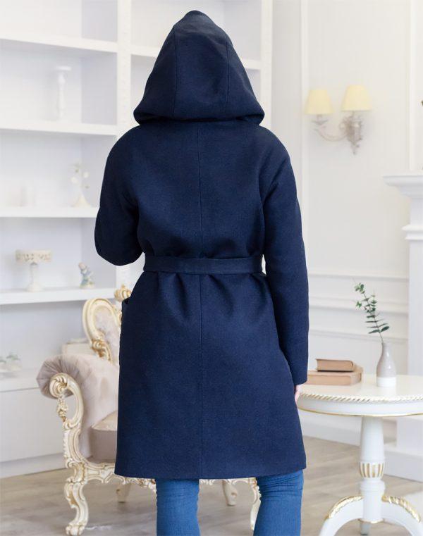 В-140 утепленное Пальто Феникс/плащевка синий темный