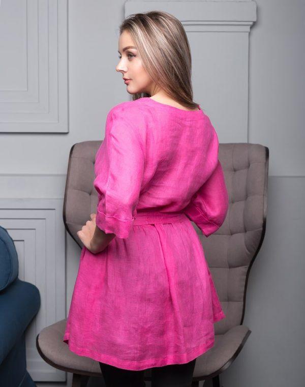 Блуза женская ВП-146 лен  80 малиновый