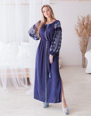 "Платье ""Лілея"" поплин синий"