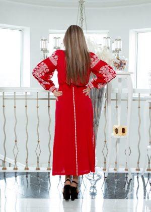 """Платье """"Лілея"""" поплин красный"""