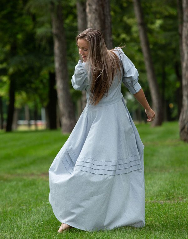 Платье Шик ПМ-1 лен голубой