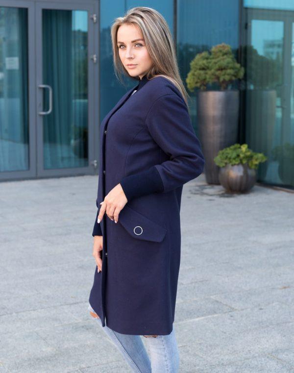 Пальто женское В-131 кашемир Феникс темно-синий