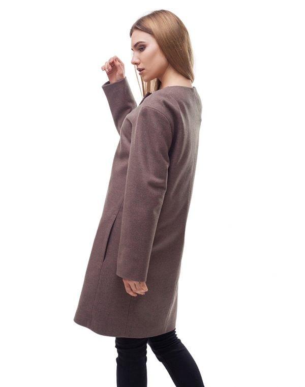 Женское пальто В-54 Кашемир бежевый