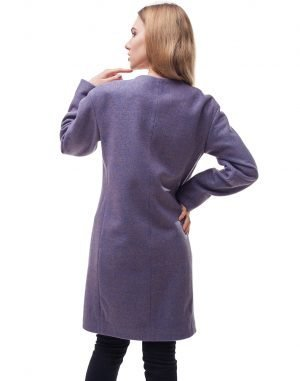 Женское пальто В-54 Кашемир сиреневый