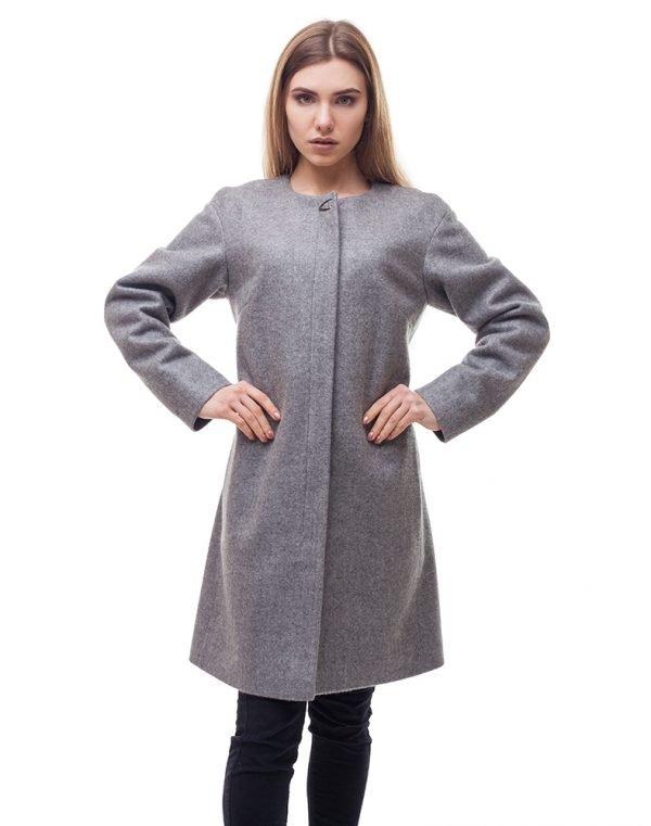 Женское пальто В-54 Кашемир серый