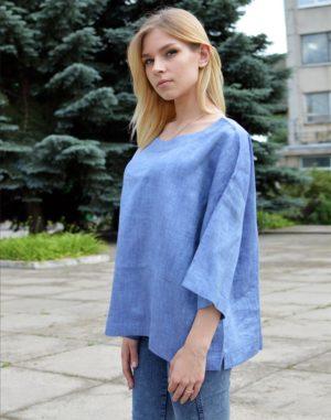 ВП-68 Блуза  лен джинс
