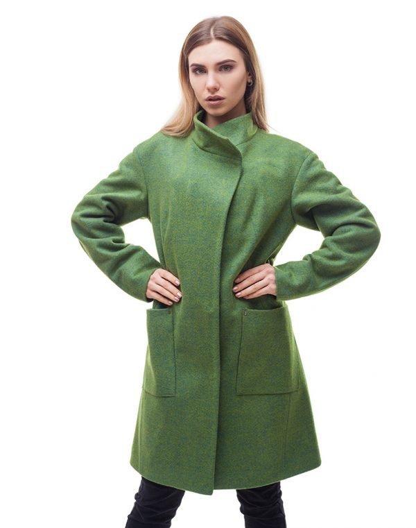 Женское пальто В-71 Феникс зеленый