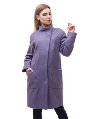 Женское пальто В-71 кашемир Феникс сиреневый