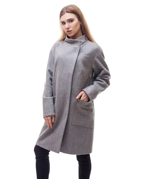Женское пальто В-71 кашемир Феникс серый